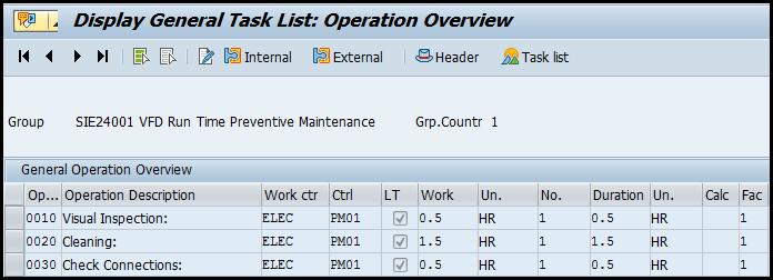 General task list